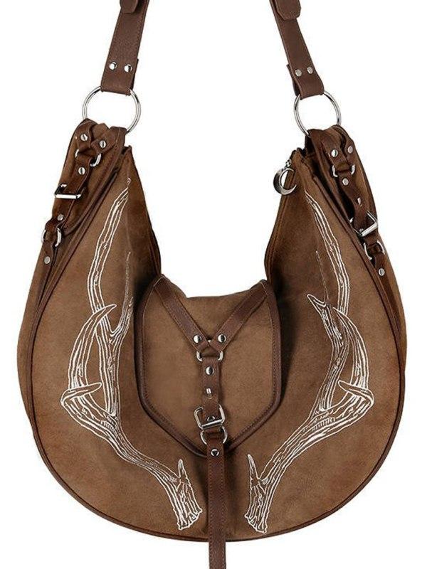 RESTYLE - Brown Antlers Väska