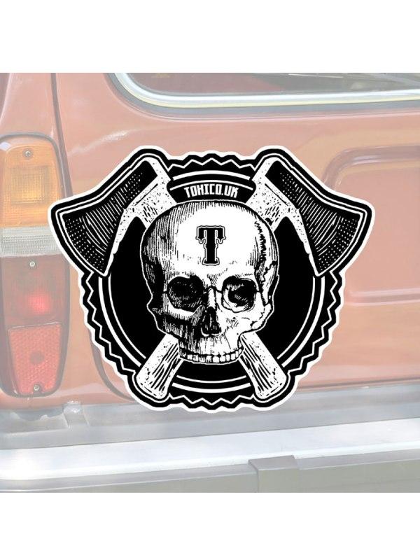 TOXICO - Axe Skull Sticker