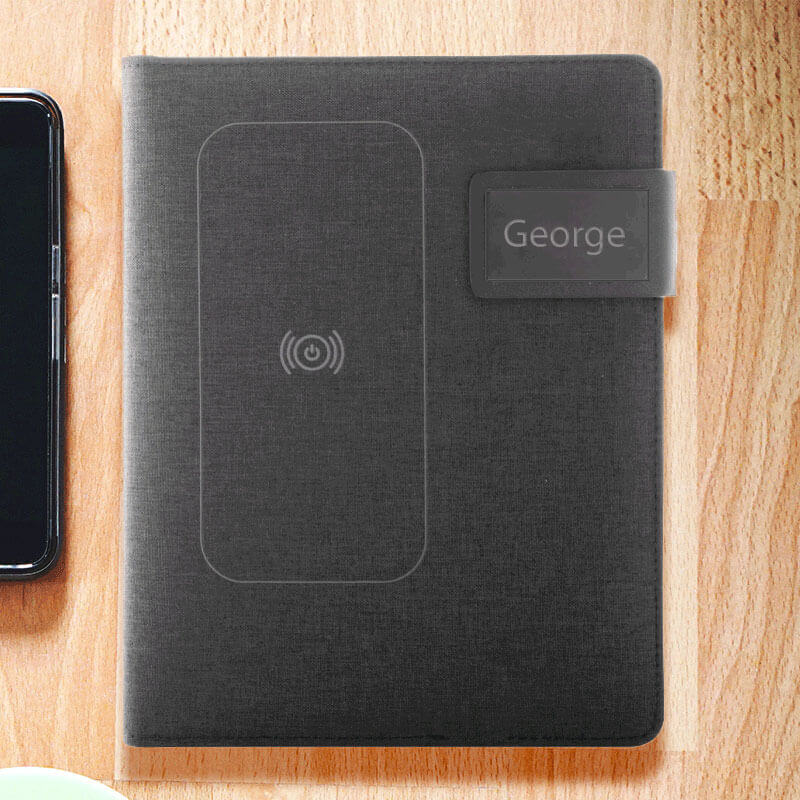 Personalised wireless charging notebook