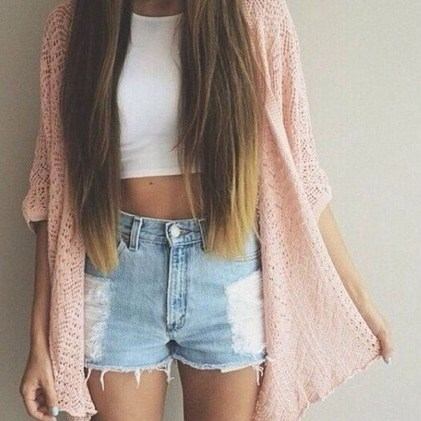 Easy And Cute Summer Outfits Ideas For School30