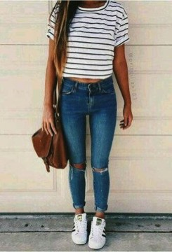 Easy And Cute Summer Outfits Ideas For School32