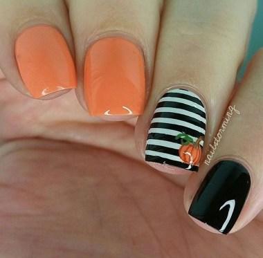 Eye Catching Fall Nails Art Design Inspirations Ideas06