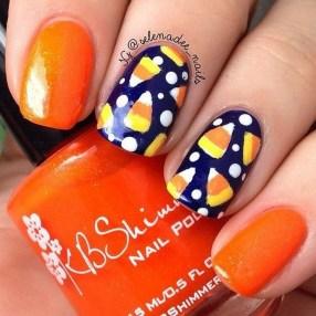 Eye Catching Fall Nails Art Design Inspirations Ideas12