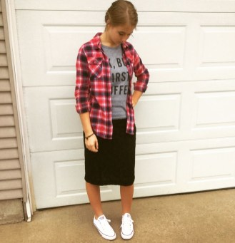 Modest But Classy Skirt Outfits Ideas Suitable For Fall15