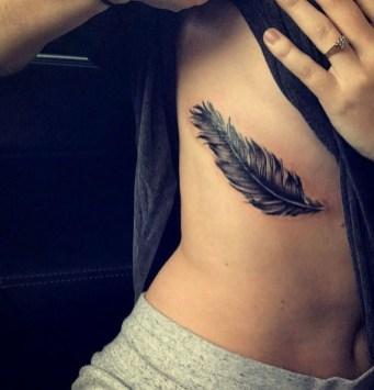 Awesome Feather Tattoo Ideas23