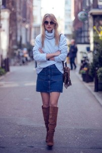 Adorable Winter Outfits Ideas Boots Skirts13