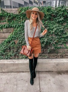 Adorable Winter Outfits Ideas Boots Skirts14