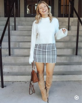 Adorable Winter Outfits Ideas Boots Skirts18