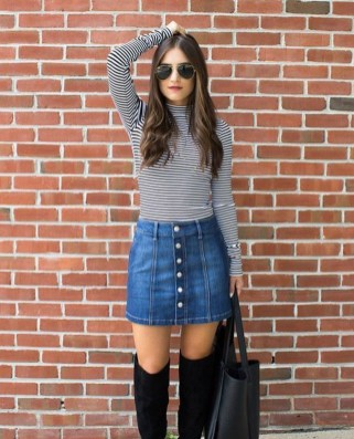 Adorable Winter Outfits Ideas Boots Skirts36