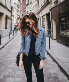 Delightful Winter Outfits Ideas Denim Jacket01