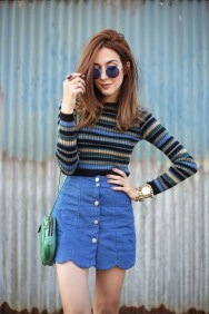 Fancy Winter Outfits Ideas Jean Skirts14