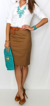 Incredible Skirt And Blouse This Fall Ideas28