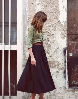 Incredible Skirt And Blouse This Fall Ideas34