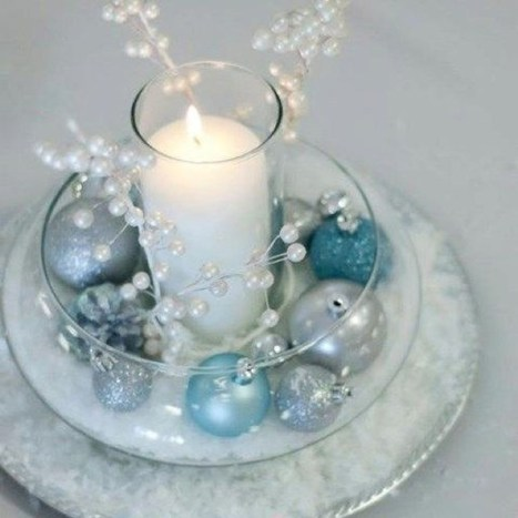 Classy Winter Wonderland Wedding Centerpieces Ideas25
