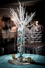 Classy Winter Wonderland Wedding Centerpieces Ideas31