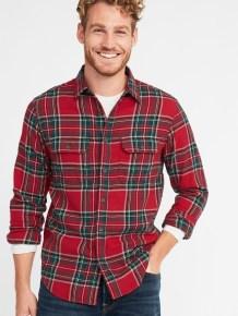 Cozy Plaid Shirt Outfit Christmas Ideas For Handsome Mens40