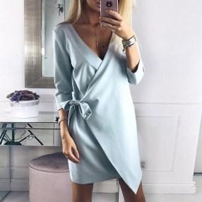 Cute Diy Wrap Mini Dress Ideas For Christmas Party19