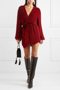 Cute Diy Wrap Mini Dress Ideas For Christmas Party40