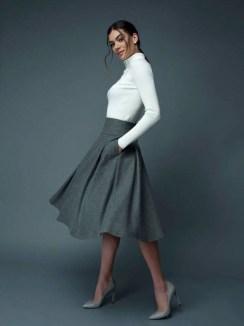 Elegant Midi Skirt Winter Ideas21