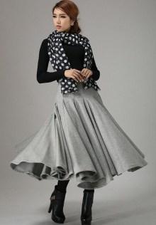 Elegant Midi Skirt Winter Ideas40