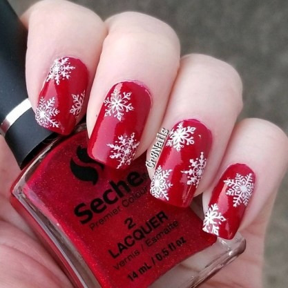 Outstanding Christmas Nail Art New 2017 Ideas02