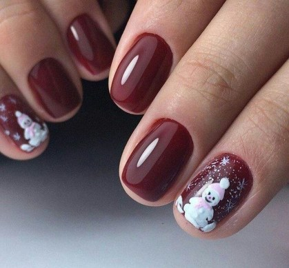 Outstanding Christmas Nail Art New 2017 Ideas33