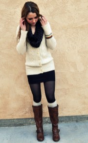 Affordable Winter Skirts Ideas With Tights04