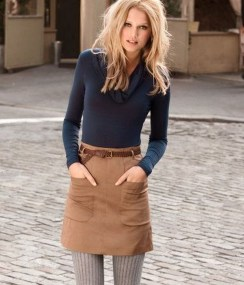 Affordable Winter Skirts Ideas With Tights10