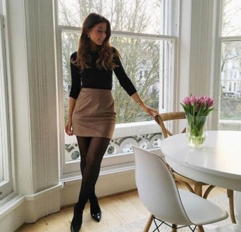 Affordable Winter Skirts Ideas With Tights18