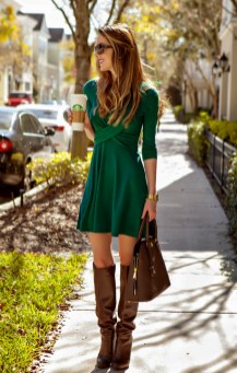 Affordable Winter Skirts Ideas With Tights20