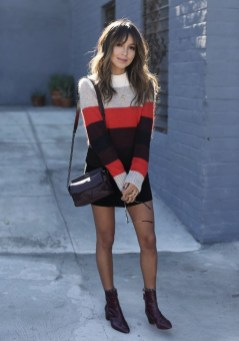 Affordable Winter Skirts Ideas With Tights23