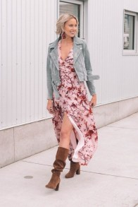 Awesome Winter Dress Outfits Ideas With Boots19