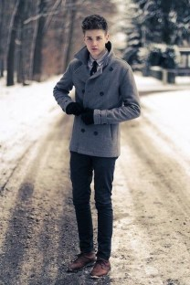 Classy Winter Outfits Ideas For School19