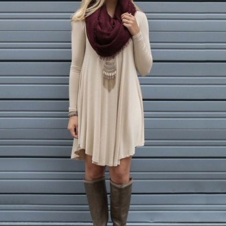 Flawless Winter Dress Outfits Ideas43