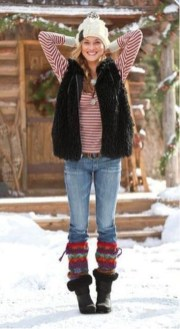 Incredible Winter Outfits Ideas With Leg Warmers31