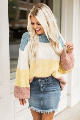 Stunning Winter Outfits Ideas With Skirts25