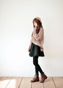 Stunning Winter Outfits Ideas With Skirts28