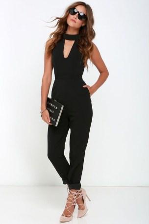 Adorable Black Romper Outfit Ideas09