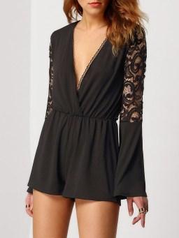 Adorable Black Romper Outfit Ideas17