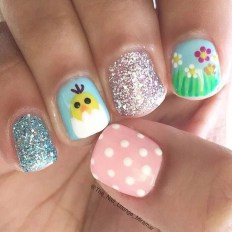Modern Easter Nail Art Design Ideas15
