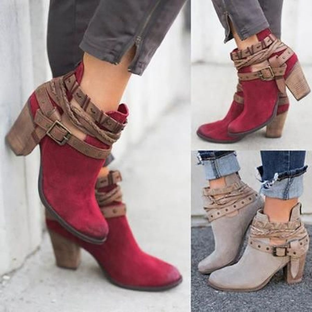 Best Ideas To Wear Wide Ankle Boots This Spring34