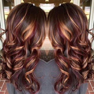 Elegant Dark Brown Hair Color Ideas With Highlights18