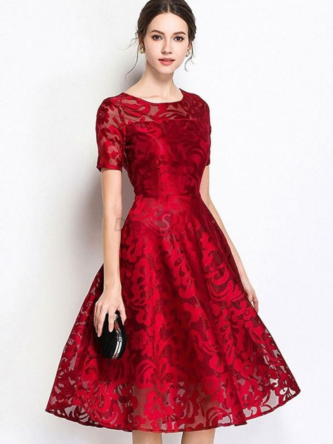 Fascinating Red Dress Ideas37