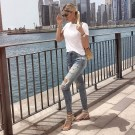 Creative Summer Style Ideas With Ripped Jeans13