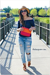 Creative Summer Style Ideas With Ripped Jeans23