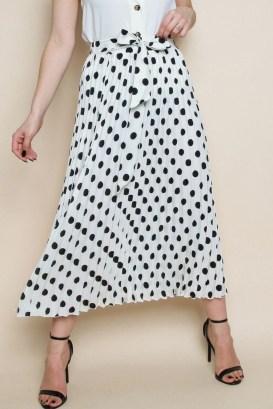 Delicate Polka Dot Maxi Skirt Ideas For Reunion08