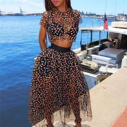 Delicate Polka Dot Maxi Skirt Ideas For Reunion20