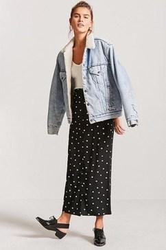 Delicate Polka Dot Maxi Skirt Ideas For Reunion33