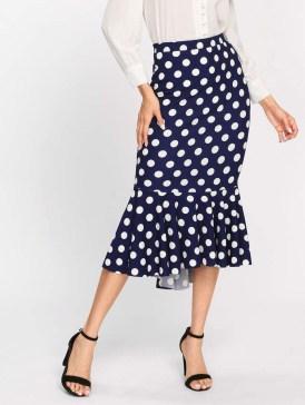 Delicate Polka Dot Maxi Skirt Ideas For Reunion35