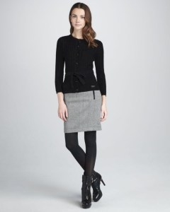 Fancy Work Outfits Ideas With Black Leggings To Copy Right Now05